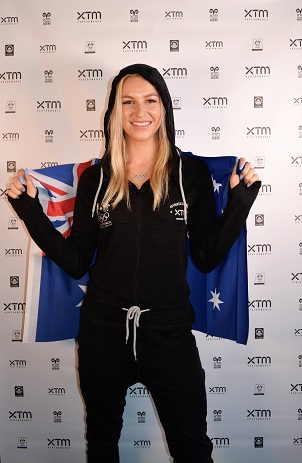 Dani Scott ready for PyeongChang in her XTM onesie