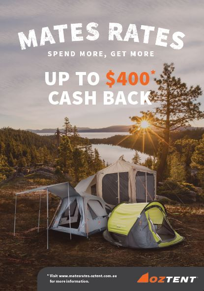 OZTENT + LOCAL RETAILERS - MATES RATES 2019 Promotion